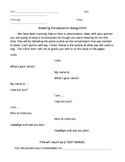 French Greeting Conversation Assignment