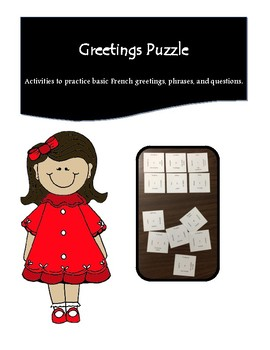 French Greetings & Basic Introductions 12 Square Puzzle