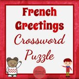 French Greetings Crossword Puzzle [Les Salutations]