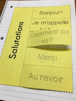 French Greetings Interactive Notebook