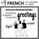 French Greetings Interactive Notebook Activities