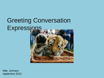 French Greetings Introduction PowerPoint