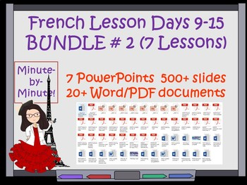 French Classroom Expressions  Lessons  Bundle Days 9-15