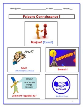 French Greetings Notes