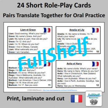 French Greetings Speaking Activity