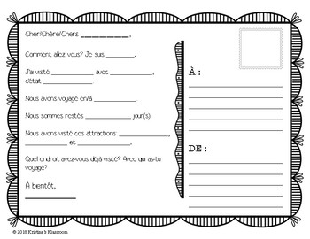 French Greetings and Adjective Review Package for **Start of School Year**