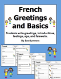 French Greetings and Basics 2 Writing Dialogues