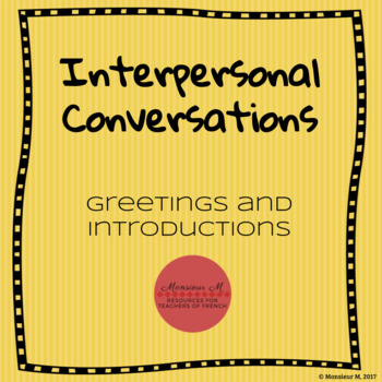 French Greetings and Introductions Dialogue