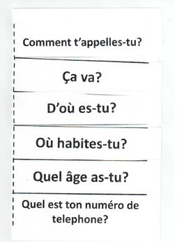 French Greetings and Introductions: Foldable Activity