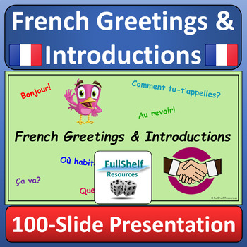 French Greetings and Introductions Presentation