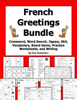 French Greetings and Leave Takings Bundle