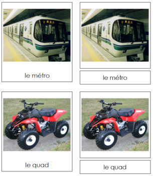French - Ground Transportation Cards