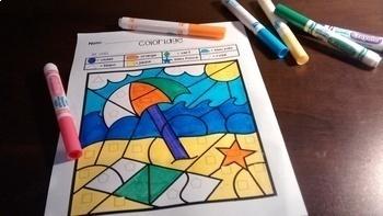 French Growing BUNDLE color by code / Coloriages magiques {Ensemble grandissant}