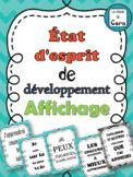 French Growth Mindset - Mentalité de croissance - État d'esprit de développement