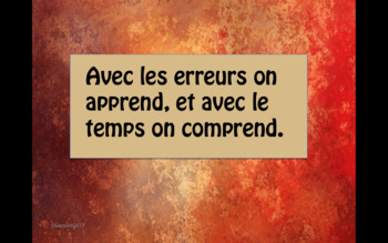 French Growth Mindset/ Motivational Printable Display Posters.