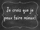 French Growth Mindset Posters - Mentalité de croissance (Chalkboard)