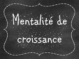 French Growth Mindset Posters - Mentalité de croissance (C