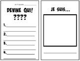 French Guess Who (Devine Qui) Worksheet Template