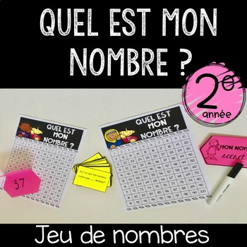 "French ""Guess my number""  Numbers Game (Number Sense)"