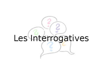 French Guided Notes on Interrogatives