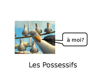 "French Guided Notes on Possessives ""my,"" ""your"" and ""his/her"""