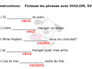 French Guided Notes on Vouloir