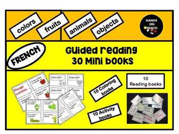 French Guided Reading- 30 Mini books
