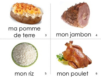French Guided Reading My Dinner