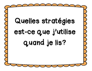 French Guided and Shared Reading Cards