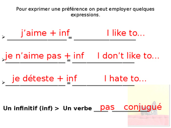 French Guided notes on -ER Conjugation of Je