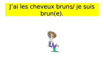 French Teaching Resources. Hair Styles & Colours PowerPoint Presentation