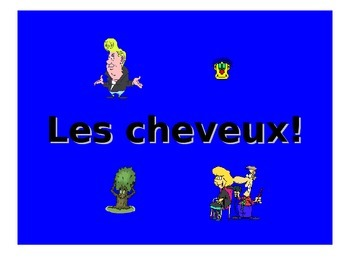 French Teaching Resources. Hair Styles & Colours PowerPoin