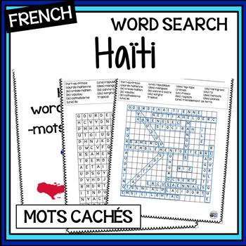French - Haiti Word Search - Trouvez les mots