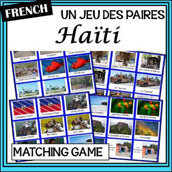French – Haïti – un jeu des paires – Haiti matching game