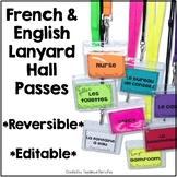 French Hall Pass Lanyards - Editable