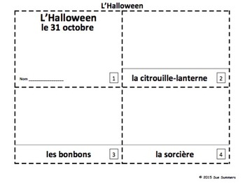 French Halloween 2 Emergent Readers