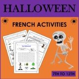 French Halloween Activities (7th to 12th)