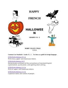 French Halloween Activities K-2