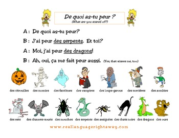 French Partner Conversation - Halloween