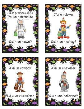 French Halloween Activity - J'ai, Qui a? Game (23 cards)