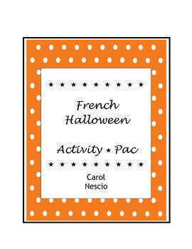 French Halloween Activity * Pac