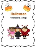 French Halloween Activity - Vocab and Fill in the Blanks