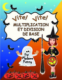 French Halloween Activity:Math Multiplication and Division