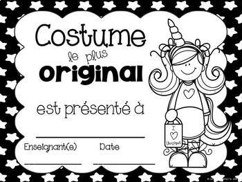 French Halloween Awards / Certificats pour l'Halloween