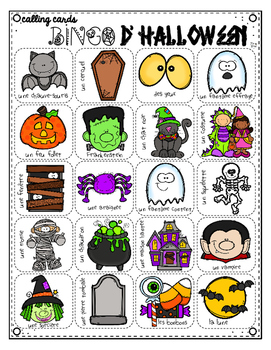 French Halloween BINGO {Create Your Own Card}