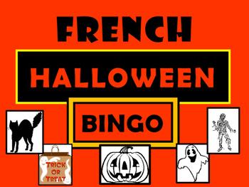 French Halloween Bingo