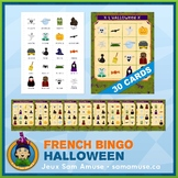 French Halloween Bingo Game • 30 Cards