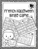 French Halloween Bingo Game - Bingo d'Halloween - Black and White