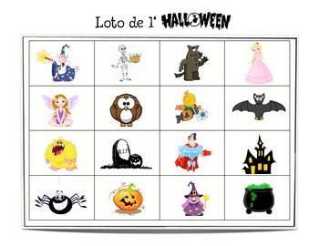 French Halloween Bingo (Loto)