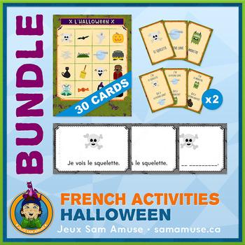 French Halloween • Booklets, Bingo & Card Games Bundle